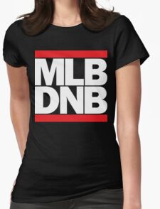 MLB DNB (White on Dark) Womens Fitted T-Shirt