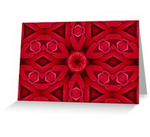 Kaleidoscope Red Red Rose Greeting Card