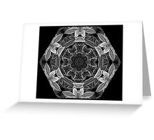 Kaleidoscope Ice Edged Greeting Card