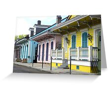 Colorful Shotguns/ New Orleans French Quarter Greeting Card