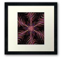 Embroided Flower Framed Print