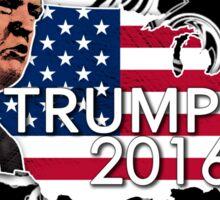 Donald Trump for President 2016  USA American Flag Sticker