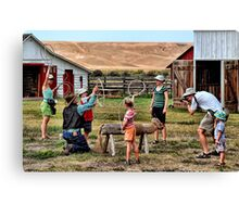 Smile For Daddy Kids! Canvas Print