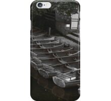 Row of boats - Dedham iPhone Case/Skin