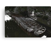Row of boats - Dedham Canvas Print