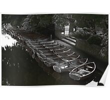 Row of boats - Dedham Poster