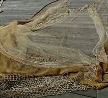 Drying Fishing Net by Scott Johnson