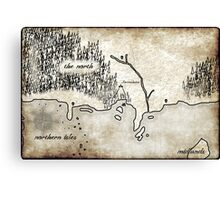 Map - Fated: Blood and Redemption Canvas Print