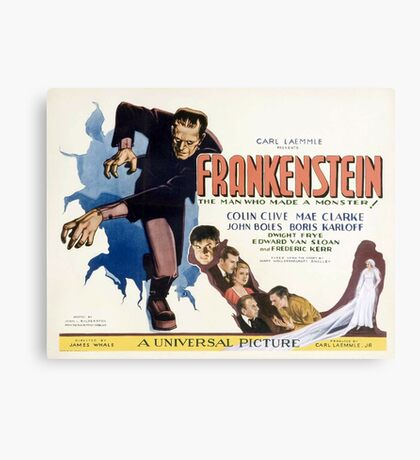 Frankenstein (Wide) Canvas Print