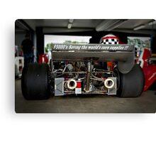Motor Racing Bio-ethics Canvas Print