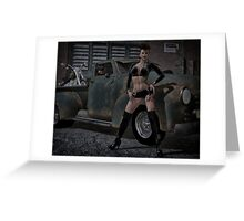The Biker Hussy 2 Greeting Card