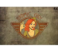 Atomic Girl  Photographic Print
