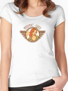 Atomic Girl  Women's Fitted Scoop T-Shirt