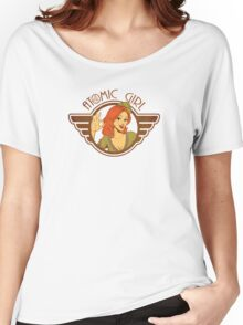 Atomic Girl  Women's Relaxed Fit T-Shirt