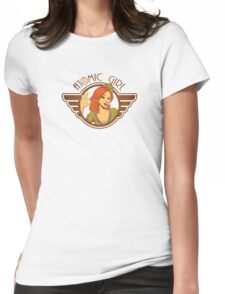 Atomic Girl  Womens Fitted T-Shirt