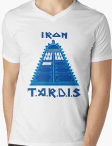 Iron Tardis Mens V-Neck T-Shirt
