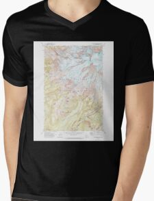USGS Topo Map Washington State WA Mt Rainier West 242658 1971 24000 Mens V-Neck T-Shirt