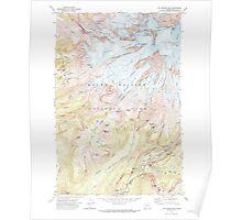 USGS Topo Map Washington State WA Mt Rainier West 242658 1971 24000 Poster