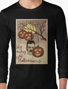 Best wishes (Vintage Halloween Card) Long Sleeve T-Shirt