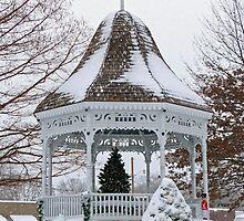 Gazebo in the Snow by Susan S. Kline