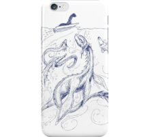 New Kid on the Loch (pen & ink) iPhone Case/Skin