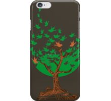 Abstract tree with birds iPhone Case/Skin