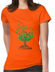 Abstract tree with birds Womens Fitted T-Shirt