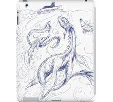New Kid on the Loch (pen & ink) iPad Case/Skin