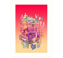 Building Clouds Art Print