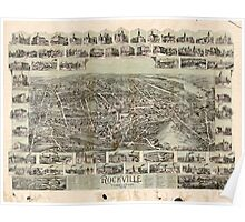 Panoramic Maps Rockville Connecticut 1895 Poster