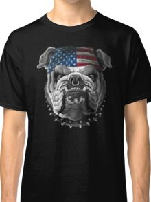Bulldog Wearing Bandana Cool Dog Classic T-Shirt