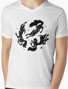 Dancing Wolves Mens V-Neck T-Shirt
