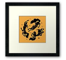 Dancing Wolves Framed Print