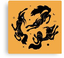 Dancing Wolves Canvas Print