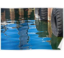 Relections - Fishing Boat Harbour - Fremantle Poster
