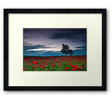 Red Hoods Framed Print