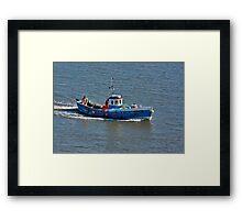 Whitby Fishing Boat Framed Print