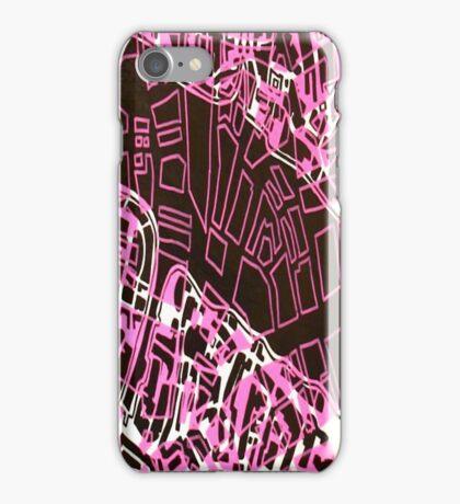 London/Boston Merge Map iPhone Case/Skin