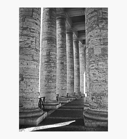 Pillar Fight Photographic Print