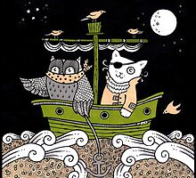 Outlaw Owl and Pirate Puss by Anita Inverarity