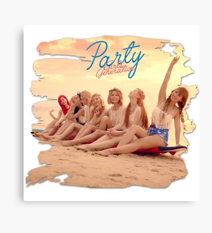 Girls Generation - Let's Party Canvas Print