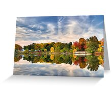 Pond of fall colors Greeting Card