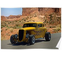 1934 Ford 5 Window Coupe Hot Rod Poster