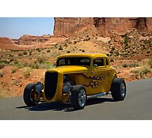 1934 Ford 5 Window Coupe Hot Rod Photographic Print