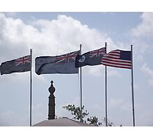 Anzac Day Flags, Cardwell 2011 Photographic Print