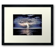 Heavy Weight Lightning Framed Print