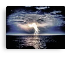 Heavy Weight Lightning Canvas Print