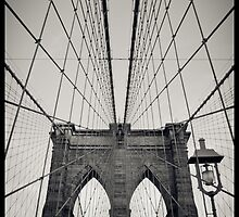 Brooklyn Bridge - New York City | B/W - iPhone/iPod by thomasrichter