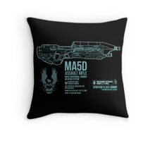 MA5D Assault Rifle Throw Pillow