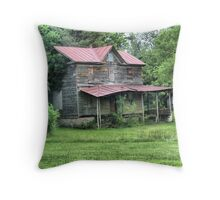 Boarded Up House Throw Pillow